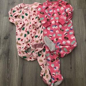 Carter's fleece footie pajamas